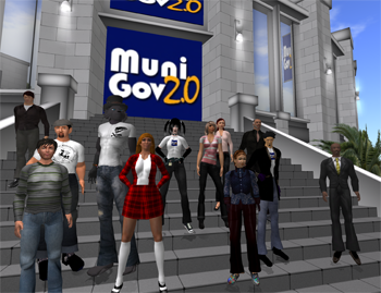 The MuniGovers pause for a quick picture before a recent virtual meeting.